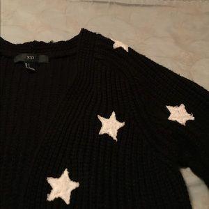 Black and White Star Cardigan